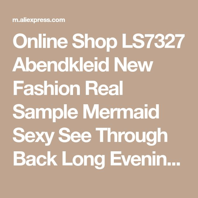 Online Shop LS7327 Abendkleid New Fashion Real Sample Mermaid Sexy See Through Back Long Evening Dress Rhinestone Prom Dresses | Aliexpress Mobile