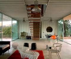 Storage container homes inside