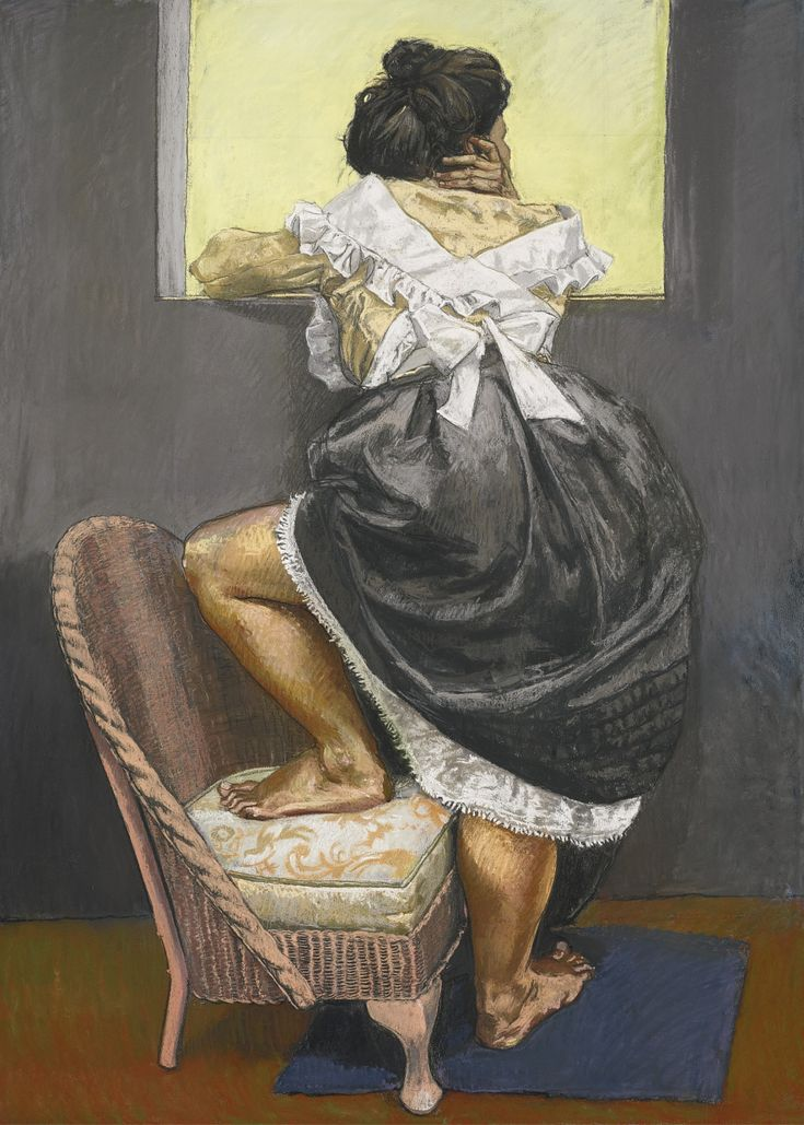 Paula Rego (Portuguese, b. 1935), Looking Out, 1997. Pastel on paper laid down on aluminium, 179 x 129.5 cm.