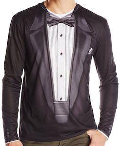Faux Long Sleeve Tuxedo T-Shirt.