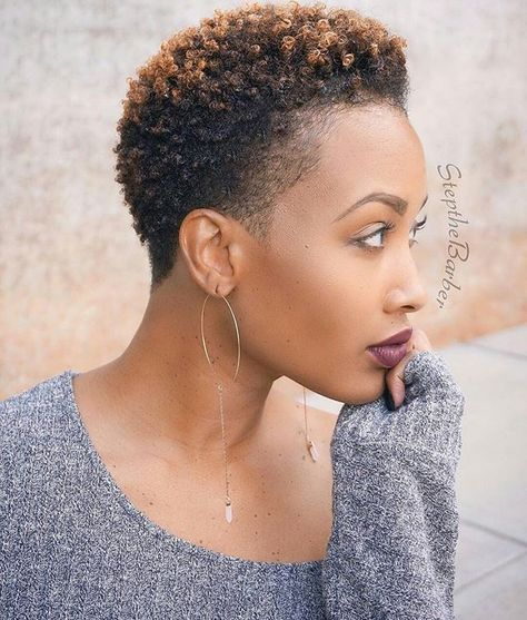 Short Natural Hairstyles With Color: Best 20+ Colored Twa Ideas On Pinterest