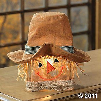 Scarecrow glass block lamp @Lynn Long