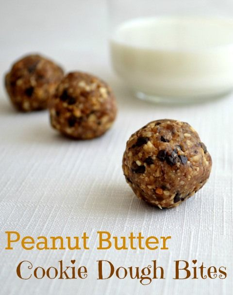peanut butter cookie dough bites. A healthy and sweat snack or dessert