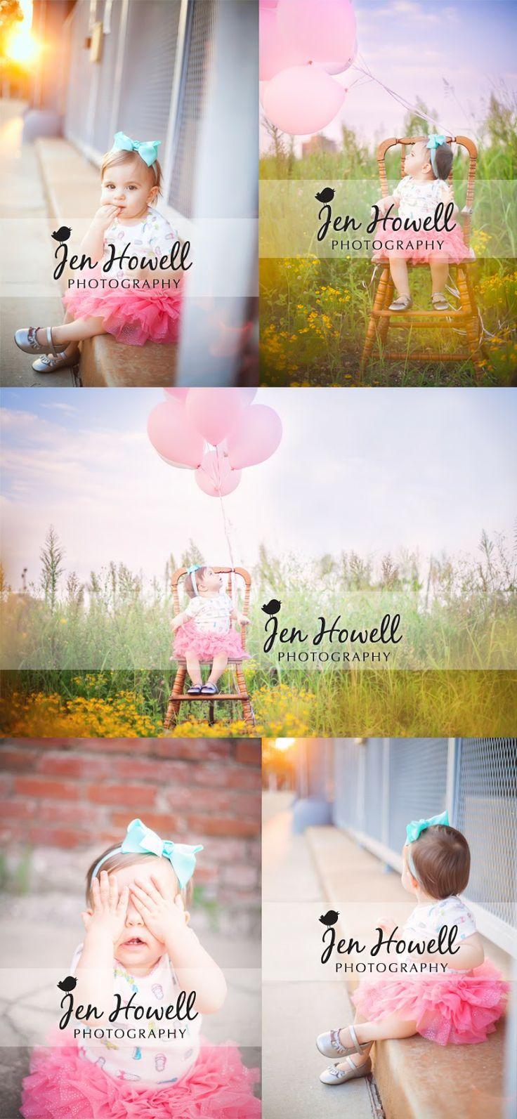 Makenzie bday photography idea pink balloons, first birthday, #birthday