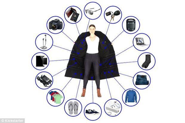 Пальто-чемодан: дизайнеры разложили багаж пассажиров по карманам http://joinfo.ua/inworld/1197878_Palto-chemodan-dizayneri-razlozhili-bagazh.html  Багаж в дороге доставляет массу хлопот. Вспомним, например, как неудобно заходить в транспорт с чемоданами или сколько времени занимает сдача и получение багажа при путешествии самолетом. В скором времени, благодаря дизайнерам, все взятые в дорогу вещи можно будет разложить по карманам. Пальто-чемодан: дизайнеры разложили багаж пассажиров по…