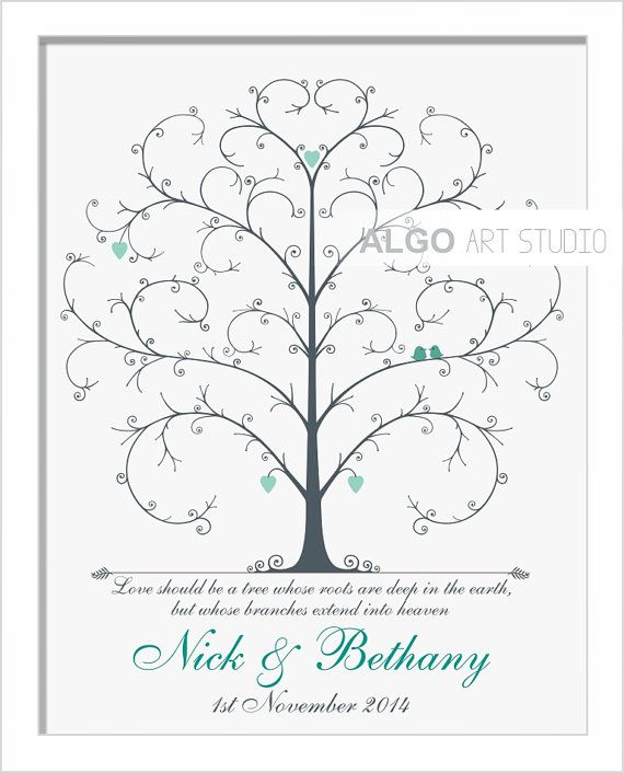 A wedding signature guest book which is custom made especially for you. It is a 100% personalized piece of art that is full of love and great