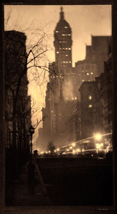 Alvin Langdon Coburn, The Singer Building, 1910  Scan old photos to preserve and share. Easy with Pic Scanner app for iPhone and iPad