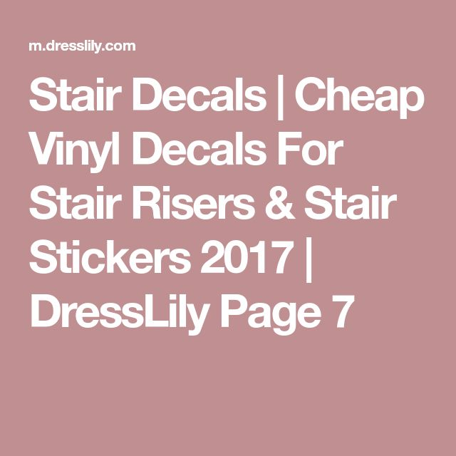 Stair Decals | Cheap Vinyl Decals For Stair Risers & Stair Stickers 2017 | DressLily Page 7