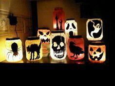 Pickle Jar Illuminataries for Halloween