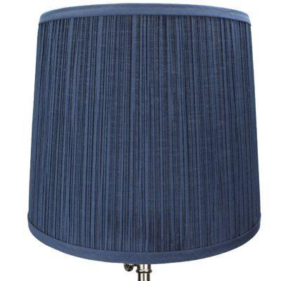 "Fenchel Shades 13"" Linen Empire Lamp Shade Color: Navy Blue"