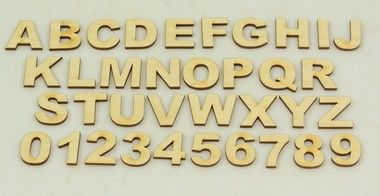 Wood Letters in the Arial Font