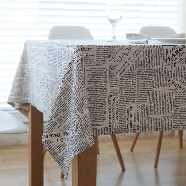 American Style Table Cloth Create Letter Printed Table Cloth Tafelkleed  Dustproof Manteles Kitchen Dining Table Cover
