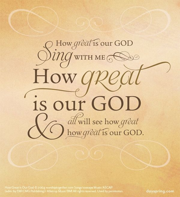 Christian Quotes And Saying: How Great Is Our God