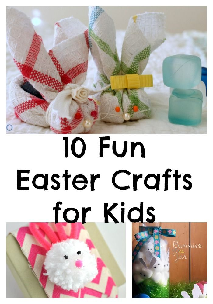 Looking for fun Easter crafts for kids to help get them ready for the arrival of the big fluffy Mr. Cottontail himself? Check out these 10 fun DIY ideas!