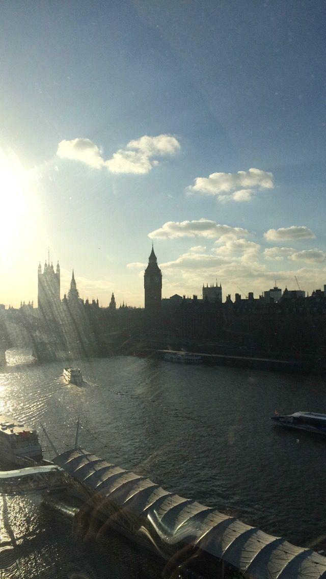 London Eye View   Trip with Mum & Nan 2014