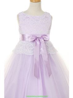 Lavender Flower Girl Dresses | Flower Girl Dresses, Communion Dresses, Pageant Dresses - Lilac Lace ...