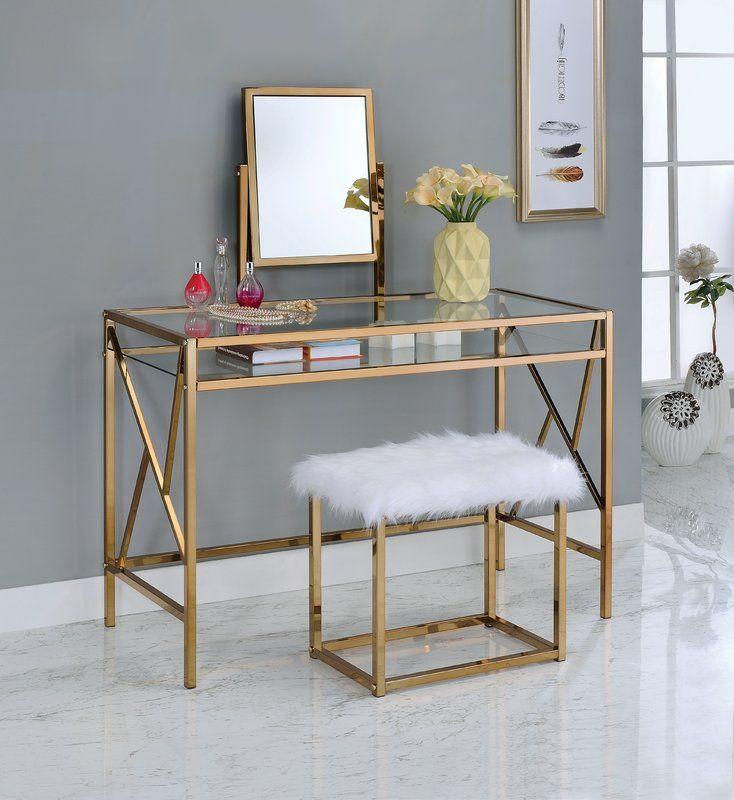 Enid Contemporary Vanity Set With Mirror Bedroom Vanity Set Vanity Table Set Furniture Of America