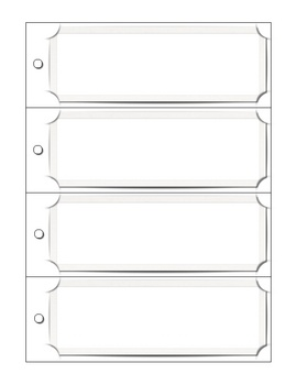 blank bookmark templates free
