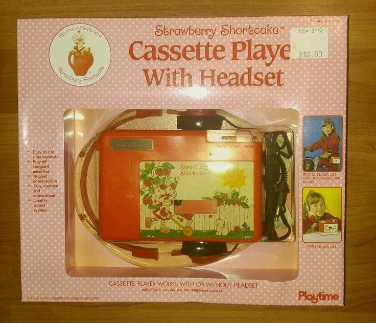 Vintage Strawberry Shortcake Cassette Player w/Headset NEW in box #Playtime