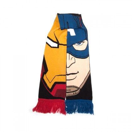 Écharpe Marvel - Iron Man vs Captain America