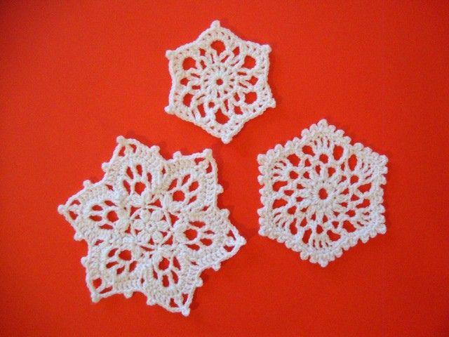Yarn Snowflakes-- free crochet patterns crochet ...