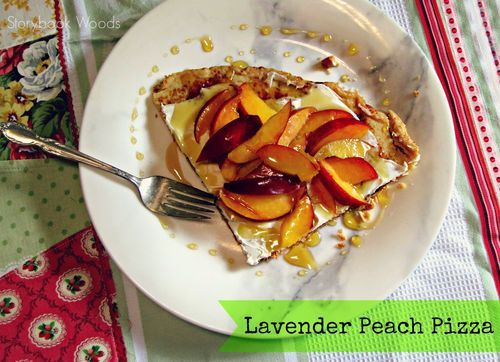 Lavender Peach Pizza, it is very easy to make--Clarice, you're amazing!