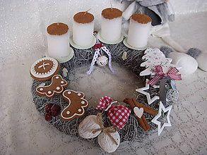 Dekorácie - adventný veniec-Biele Vianoce - 6149896_