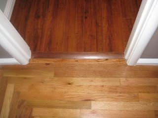 Contrasting Wood Floor Transition Wood Floor Ideas In