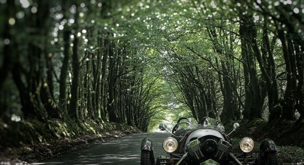 Morgan M3W in the Wild Wood Devon
