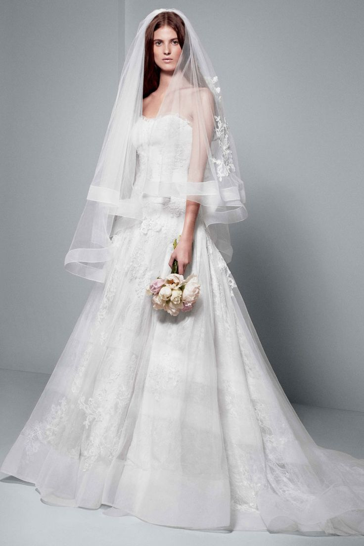 White by Vera Wang Wedding Dresses Exclusively at David's Bridal. To see more: http://www.modwedding.com/2014/07/08/white-vera-wang-wedding-dresses-exclusively-davids-bridal/ #wedding #weddings #wedding_dress