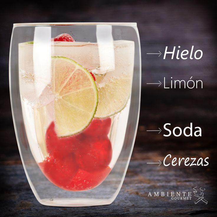 #soda con fruta y limón