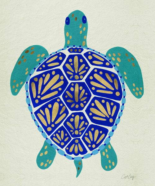 Sea Turtle Art Print by Cat Coquillette
