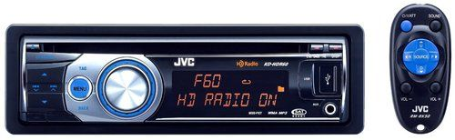 JVC Refurbished KD-HDR60 USB/CD Receiver with HD Radio Tuner and iTunes Tagging