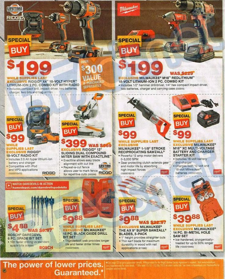 Home Depot Black Friday Ad | Black Friday Ads 2013 Ridgid miter saw