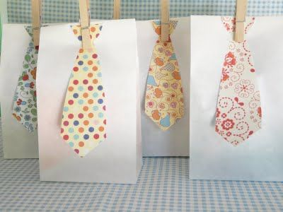 Paper Necktie Gift Tags, via Black and White {Side by Side}
