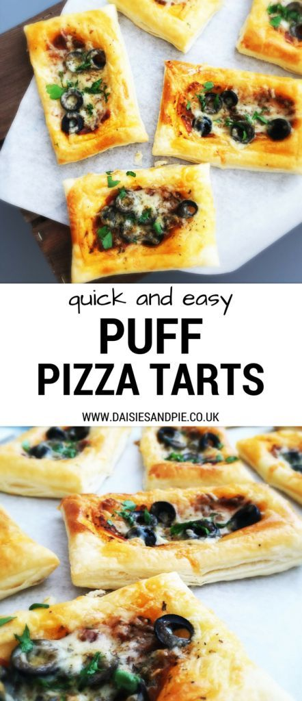 Quick and easy puff pastry pizza tarts - load them up with all your favourite flavours - ready in minutes making them a go to for busy weeknight dinner