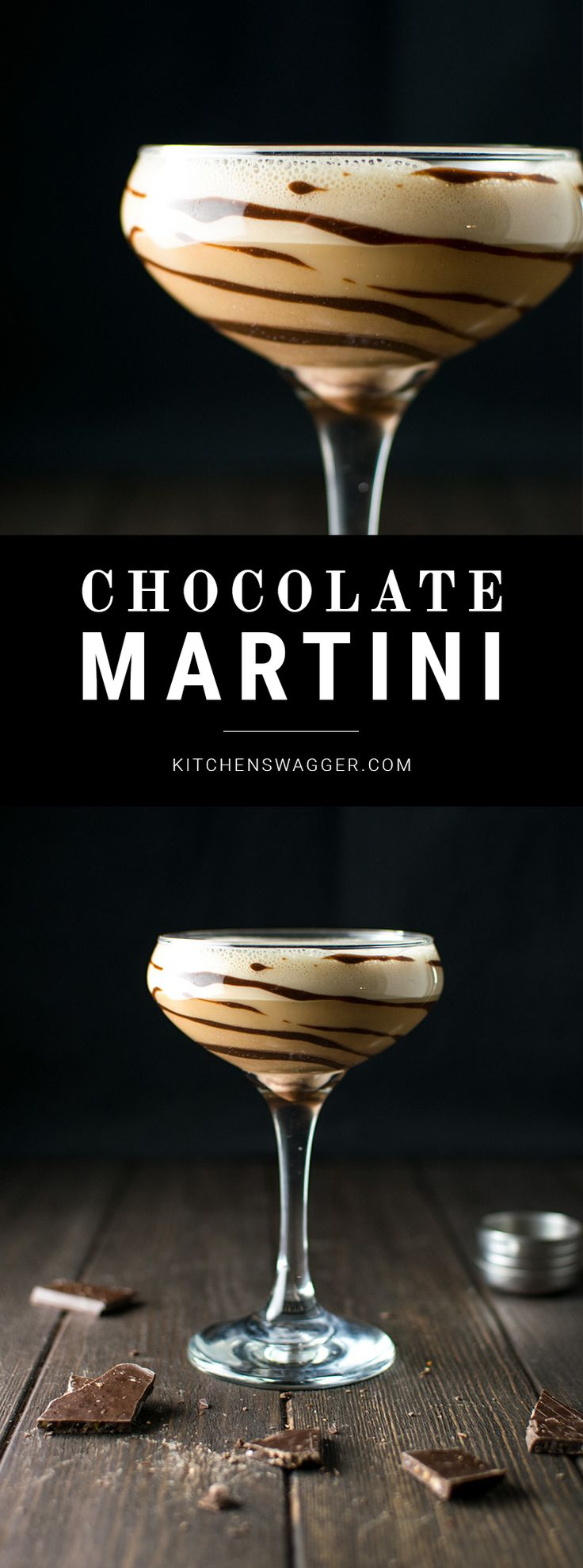 The chocolate martini is the ultimate dessert martini. Made with vanilla vodka and both Godiva dark chocolate and chocolate liqueurs.