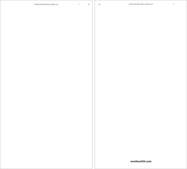 Two Almost Entirely Blank Pages in Today's New York Times Are an Ad for a Movie | Adweek
