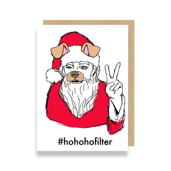Funny Christmas Card featuring Snapchat filters