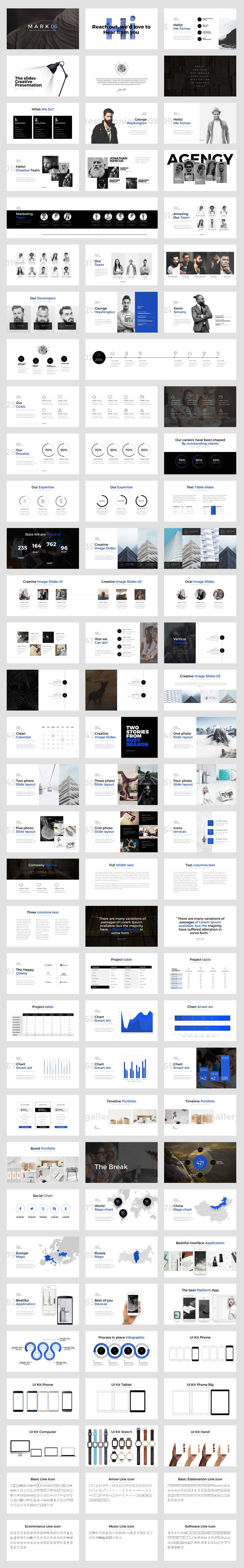 Mark06-Minimal Powerpoint Template by dublin_design on @creativemarket
