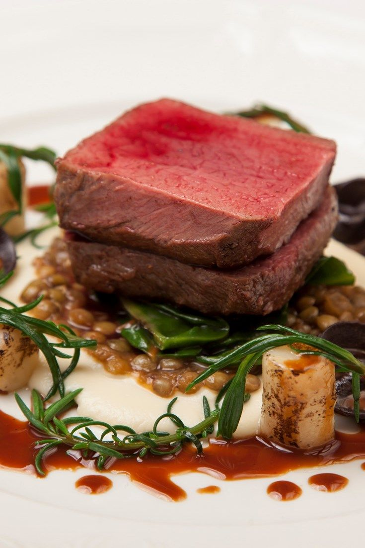 In this stunning main course recipe, Michelin-starred chef Aaron Patterson serves beautifully cooked venison with salt-baked celeriac, spiced lentils and chocolate tortellini. Learn how to make pasta and impress family and friends with this restaurant standard venison recipe.