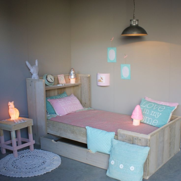 Steigerhouten Kinderbed Anne / Stan