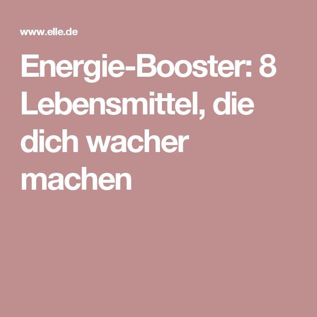 Energie-Booster: 8 Lebensmittel, die dich wacher machen