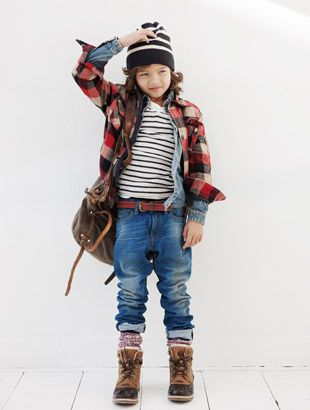So this kid is way more stylish than I am. And I want all the clothes!