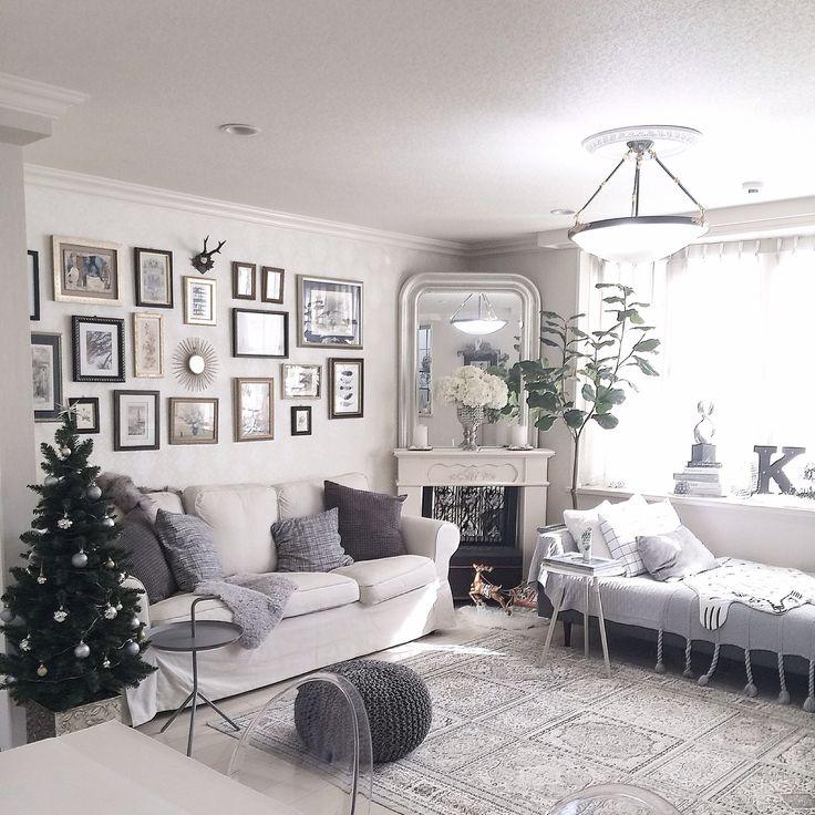 カルテル ルイゴースト/IKEA/マントルピース/ソファ/モノトーンインテリア/クリスマスツリー…などのインテリア実例 - 2015-12-02 22:50:38 | RoomClip(ルームクリップ)