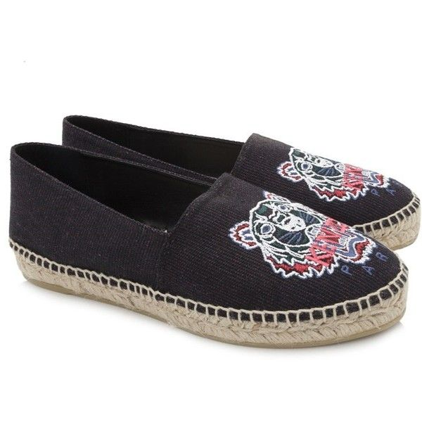 Kenzo Tiger Espadrilles ($170) ❤ liked on Polyvore featuring shoes, sandals, purple, embroidered shoes, purple shoes, espadrille shoes, purple sandals and espadrille sandals