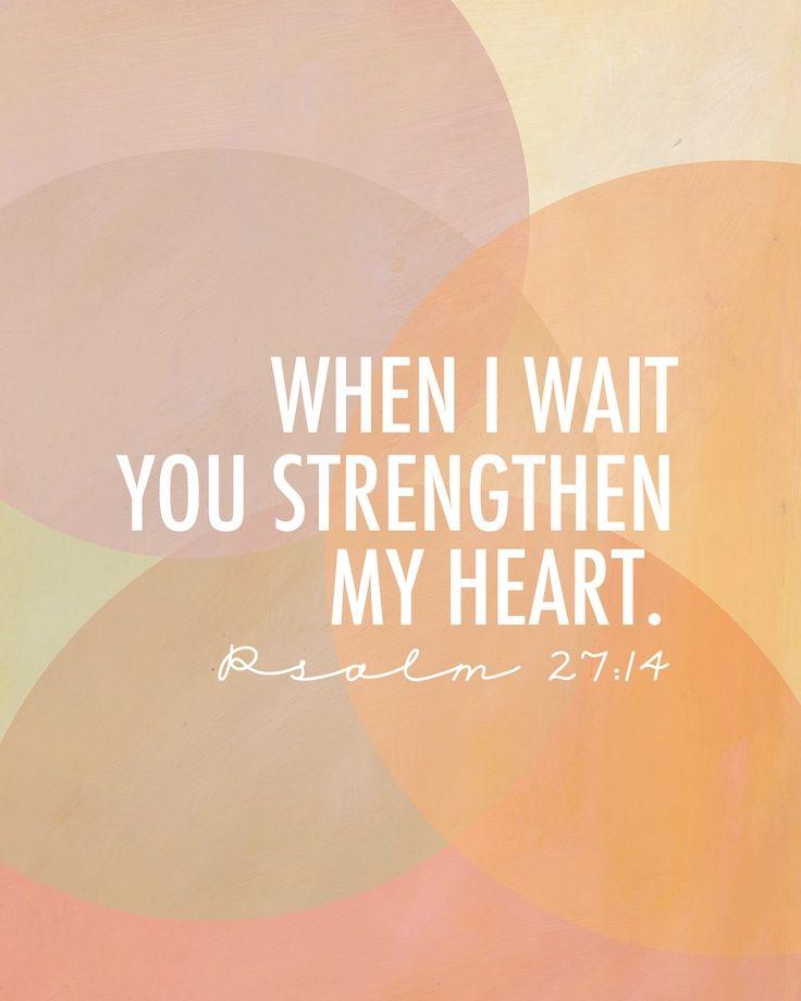 Comforting Bible Verses Psalm 27:14