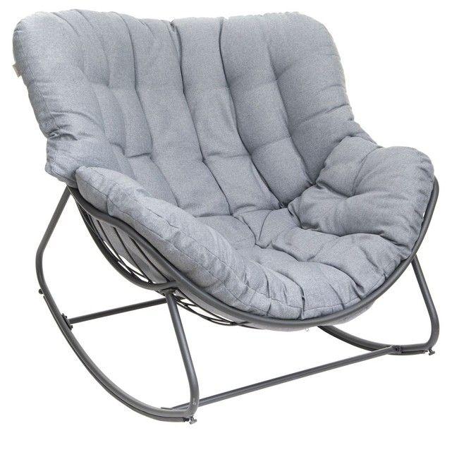 Completez Votre Terrasse Ou Salon De Jardin Avec Ce Rocking Chair Ideal Pour Vos Moments Detentes Design Et Tout Fauteuil A Bascule Fauteuil Fauteuil Bascule