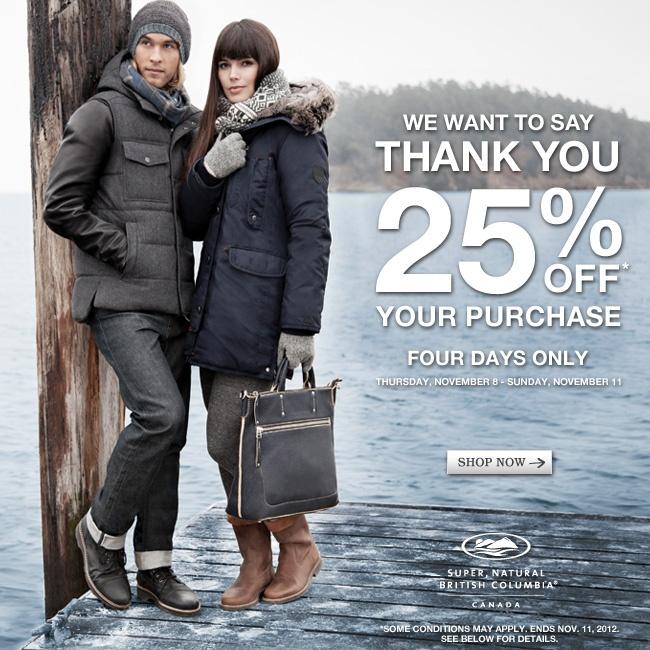 Customer Appreciation! 25% off your order online or in store. #sale #customerappreciation #rootslove