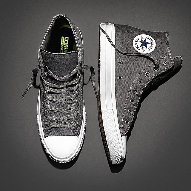 #ConverseShoes  Just in time for fall, the Converse Chuck Taylor All Star II in Gray, coming soon. #ChuckII